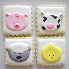 So much cuteness went out this weekend including these farm animal sugar cookies!