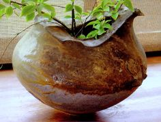 the earthiness. love the organic rim. M.Wein  Anagama fired 7 days,natural ash glaze