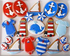 .Oh Sugar Events: Nautical Shower Cookies