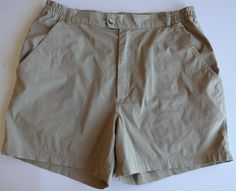 Men's VTG Woolrich Khaki Shorts Size 34 Hike Outdoors Stretch Camp Counselor #Woolrich #KhakisChinos