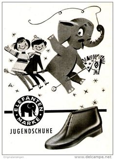 Original-Werbung/ Anzeige 1958 - ELEFANTEN - SCHUHE - ca. 70 x 100 mm