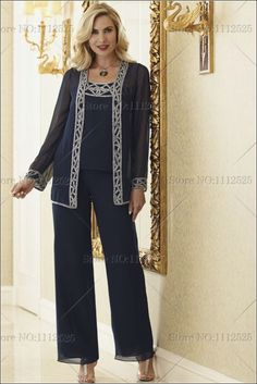 Pant Suits Spaghetti Straps Ankle-length Chiffon Mother of the Bride Dress Mother Of The Bride Plus Size, Mother Of The Bride Dresses Long, Mom Pants, Wedding Pantsuit, Trouser Outfits, Clothing For Tall Women, Tuxedo Pants, Carolina Herrera, Boho Outfits