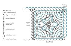 All star crochet square pattern