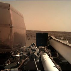 NASA's InSight lander has touched down safely on Mars. Above: The first image from InSight's Instrument Deployment Camera, located on a folded-up robotic arm, shows the lander's new home on Mars, Elysium Planitia. Cosmos, Mars Landing, Nasa Pictures, Selfies, Reportage Photo, Space Exploration, Photos Of The Week, Spacecraft, Brazil