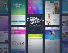 """Check out new work on my @Behance portfolio: """"""""ColorChaos"""" IOS Mobile UI kit"""" http://be.net/gallery/33838718/ColorChaos-IOS-Mobile-UI-kit"""