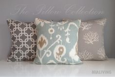 MIALIVING #pillows #ikat #coral