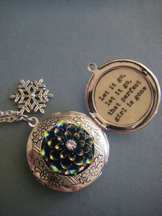 Frozen Inspired Locket Necklace Let it go that perfect girl is gone gift for her teen tween frozen fan on Etsy, $31.00