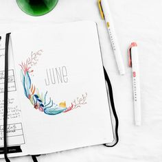 June cover page • Bujo • Bullet Journal • Bujo cover page • Bullet journal cover page • June setup • Monthly setup • Monthly view • Monthly spread • Minimal bujo • Minimal bullet journal • Summer layout • Bujo layout • Planner stickers • Bujo stickers || IG: @frai.oh