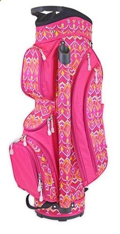 Golf Bags - Ikat Sunrise All For Color Ladies Cart Golf Bag at #lorisgolfshoppe #golfbags