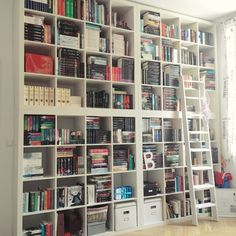 All the Bookish Things in the World — There have been some changes with my bookshelf,. Library Bookshelves, Cool Bookshelves, Ikea Kallax Bookshelf, Bookshelf Wall, Book Shelves, Bookcases, Library Room, Dream Library, Bookshelf Inspiration