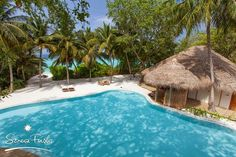 Just few steps away from your swimming pool.. the azure crystal clear blue ocean. Want to explore the world in Soneva Fushi #Maldives   See more - http://maldivesholidayoffers.com/resorts/79/soneva-fushi