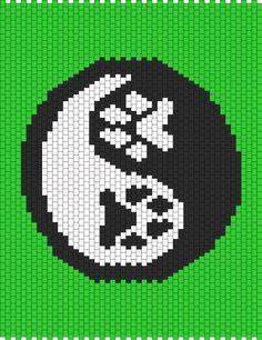 Paw Print Yin Yang bead pattern