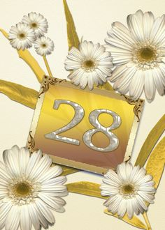 28th birthday card with daisies card #Ad , #Sponsored, #birthday, #daisies, #card