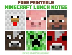 I can't believe it took me so long to make lunch notes with a Minecraft theme! Minecraft is my son's obession. If he's not playin...