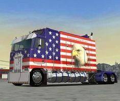 American Freedom, American Spirit, American Pride, Big Rig Trucks, Semi Trucks, Cool Trucks, American Flag Pictures, Patriotic Pictures, Pride Of America