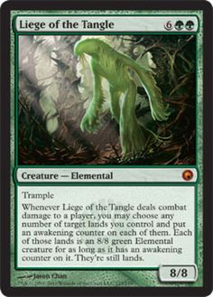 mtg Magic the Gathering Liege of the Tangle Scars of Mirrodin mythic rare green creature card