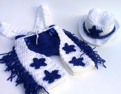 Dallas Cowboys Crochet Chaps 03 Months by CiCiBlueDesigns on Etsy, $60.00