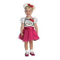 Déguisment classique Hello Kitty rose