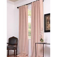 Petal Blackout Velvet Pole Pocket Single Panel Curtain, 50 X 84 Half Price Drapes Drapery
