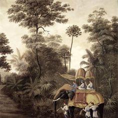 Bengale sur Au Fil des Couleurs Papier Peint Panoramique Ananbô