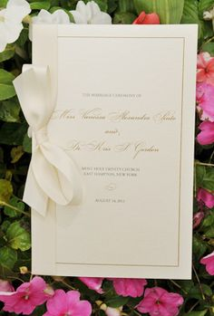 White and Gold Wedding. Cream & Gold Invite