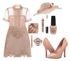 Outfit #1438 by ivanna1920 on Polyvore featuring polyvore fashion style RED Valentino Zimmermann Charles by Charles David Marzi Charlotte Tilbury NYX Charlotte Russe OPI clothing