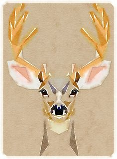 Deer - so simple in neutral shades, love!