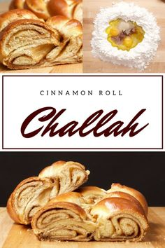 This cinnamon roll challah bread is sweet and stringy on the inside with a crisp crust on the outside. Our all-time favorite challah! Cinnamon Bread, Cinnamon Rolls, Comida Judaica, Challah Bread Recipes, Jewish Recipes, Bread Rolls, Challah Rolls, Sweet Bread, Holiday Recipes
