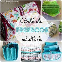 """Freebook *** kostenlose Näh Anleitung *** Kulturbeutel """"Nina"""" ***  Für mehr informationen, besuche unsere Facebook Seite"""