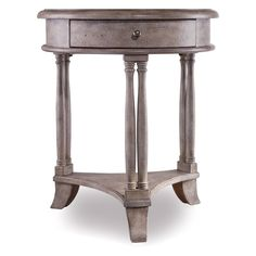 Hooker Furniture Bella 1-Drawer Round Nightstand with Reversible Top - 638-50002