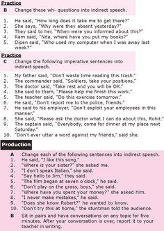 Grade 8 Grammar Lesson 25 Reported speech (2)