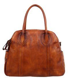 Chestnut Vintage Leather Satchel #zulily #zulilyfinds