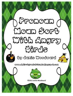 Angry Birds Pronoun Sort. Repinned by Columbus Speech & Hearing Center. For more ideas like this visit www.pinterest.com/columbusspeech