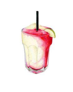 Margarita Art // Food & Beverage Illustration // Art for kitchen