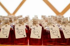 Sloe Gin Favours - Danielle and Jack filled their farm celebration with wildflowers and carefully crafted details