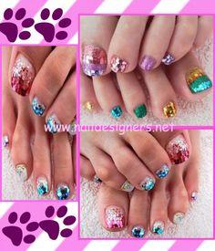 Glittery Toe Nail Design Ideas 514x600
