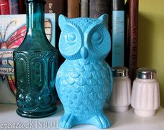 thrifted owl - after by Regina (creative kismet), via Flickr