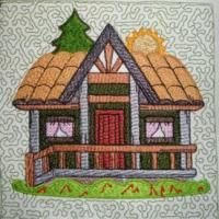Cozy Cottages Wall Hanging Embroidery Designs
