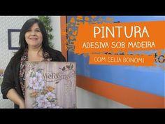 Pintura Adesiva sob Madeira com Celia Bonomi | Vitrine do Artesanato na TV - YouTube