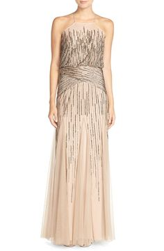 Adrianna Papell Beaded Blouson Gown | Nordstrom