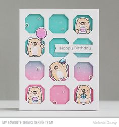 Stamps: Bitty Bears  Die-namics: Bitty bears, Stitched Tag-Corner Square STAX, Blueprints 30    Melania Deasy  #mftstamps