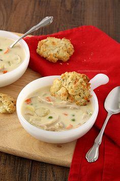 Chicken Pot Pie Soup | www.chocolatemoosey.com