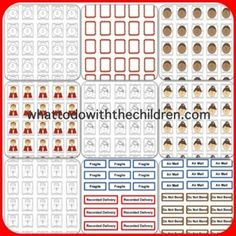 Free post office printable stamps for children.great way to motivate children to want to write! Free Preschool, Preschool Classroom, Community Helpers Preschool, Education And Literacy, Dramatic Play Centers, Play Centre, Pretend Play, Post Office, Teaching Tools