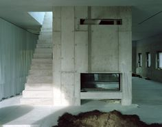 Remarkable use of materials at the Antivilla in Potsdam, Germany by Brandlhuber+ Emde, Schneider Arno, Concrete Building, Old Building, Interior Architecture, Interior Design, Gray Interior, Architecture Details, Interior Styling, Villa