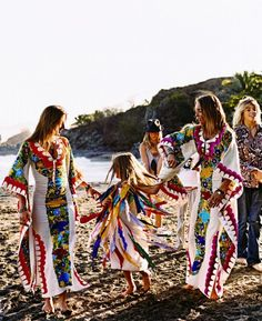 Colorful caftans !