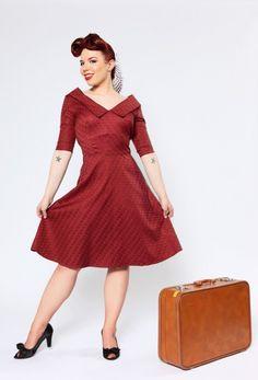 Francine Dress Rust Dimensions
