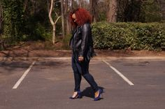 Marie Denee's Style: Plus Size Leather and Denim on TheCurvyFashionista.com