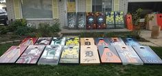 Cornhole boards going out today.