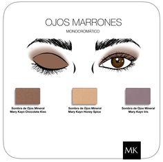 Makeup Ojos marrones #MaryKay   www.marykay.es/mariaroda