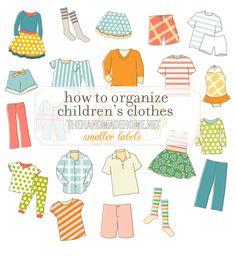 how to organize children's clothes - the handmade homethe handmade home labels